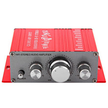 Kentiger HY-2001 Hi-Fi Aluminum alloy 12V Mini Auto Car Stereo Amplifier 2 Channel Audio Support CD DVD MP3 for Motorcycle Home(China)
