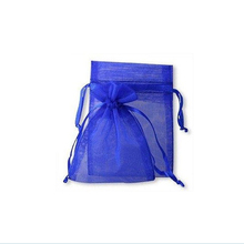 100pcs Organza Drawstring Gift Bags Wedding Favour Bags Jewellery Pouches ewelry Packing Drawable Organza Bags (Royal Blue)