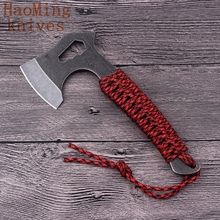 Mini Tactical Axe Tomahawk AUS6 steel rope Outdoor Hunting Camping Survival Machete Axes Hand Tool Fire Axe Hatchet Axe Ice Axe(China)