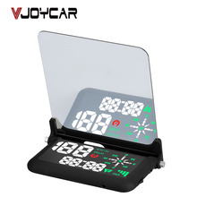 "VJOYCAR Universal 4"" Car HUD GPS Speedometer Speed Head UP Display Digital Overspeed Alarm Windshield Projector With Holder"
