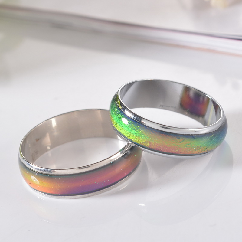 2017 Fine Jewelry Mood Ring Temperature Changing Color Feeling Ring Party Supplies Emotion Creative Gift