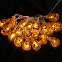20-LED 86inch Battery Operated Halloween Pumpkin String Lamp Fairy Light DIY