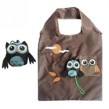 Cute Animal Owl Shape Folding Shopping Bag Ladies Daily Foldable Reusable Tote Bags Portable Travel Shoulder Bag