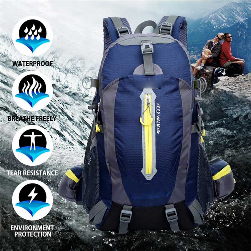 Outdoor Waterproof Camping Hiking Backpack Sports Bag Travel Mountain Climb Equipment 40L for Men Women males Teengers<br>