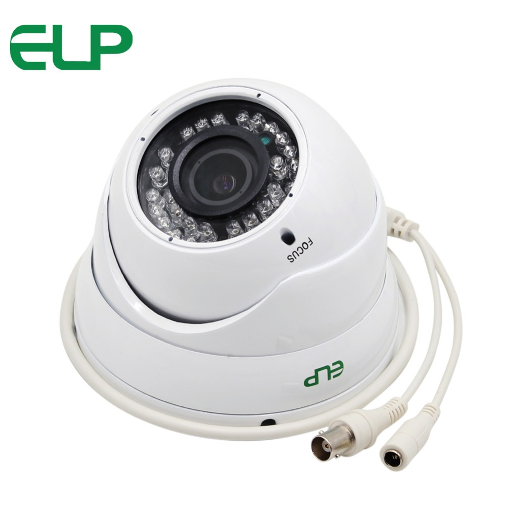 ELP Outdoor/indoor waterproof Sony 322+2441H 2.8-12mm manual Iris varifocal dome Night Vision Infrared cctv AHD camera 1080P<br>