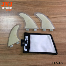 FCS Honeycomb Fiberglass FCS surfboard fin with bamboo veneer FIN G5 with bag