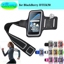 "Waterproof Phone Bag For Blackberry DTEK50 5.2"" New GYM Workout Sport Arm Band Casual Running Riding Fishing Support Case(China)"