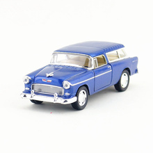 KINSMART Die Cast Metal Model/1:40 Scale/1955 Chevy Nomad Classical toy/Pull Back Car for children's gift or collection/Gift