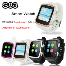 3G Bluetooth Smart Watch Android SIM Phone Wifi Quad Core 4GB Smartwatch ZGPAX S83 3.0MP HD Camera GPS FM for Android iOS Phone