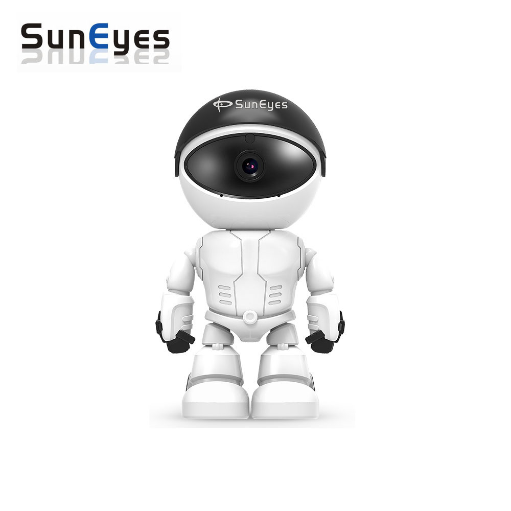 SunEyes SP-S1802W 1080P 2.0MP Full HD Wireless Wifi Robot IP Camera Support Pan/Tilt Rotation and Two Way audio<br>
