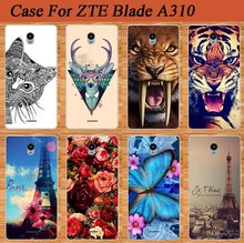 Colorful tpu Case For ZTE Blade A310 a310 Cool Cat Giraffe Tiger Animals Design Fashion For ZTE A310 soft TPU case cover Holder