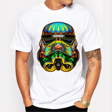 2017  Stormtrooper printed t-shirt funny men's tee shirts Hipster O-neck cool tops