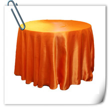 Hot Sale !!! Orange 90inch 10pcs Satin table cloth for weddings parties hotels restaurant Free Shipping(China)