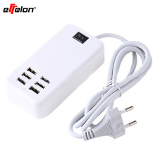 Effelon Multi 6 Ports Wall Charger 30W USB Charger Station with on/off Power Switch for Samsung iphone xiaomi Tablet Device(China)