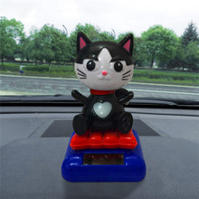 New Car Inner Decor Toy CARPRIE 1PC Fashion Solar Powered Dancing Swinging Animated Dancer Toy Cute Cat High Quality(China)