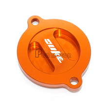 High quality Motorcycle CNC Engine Oil Filter Cover Cap With LOGO For KTM DUKE 125 200 390 690 duke(China)