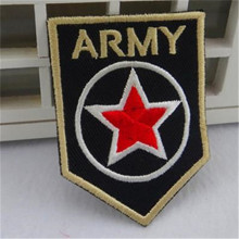 Embroidered iron on patches for clothes logo ARMY Star Badge deal with it clothing biker patch DIY Motif Applique Free shipping
