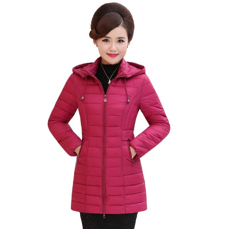 2017 Hot Sale New Full Solid Slim Ukraine Middle - Aged Winter Cotton Clothing Women In The Section Of Small Size Jacket Coat Îäåæäà è àêñåññóàðû<br><br>
