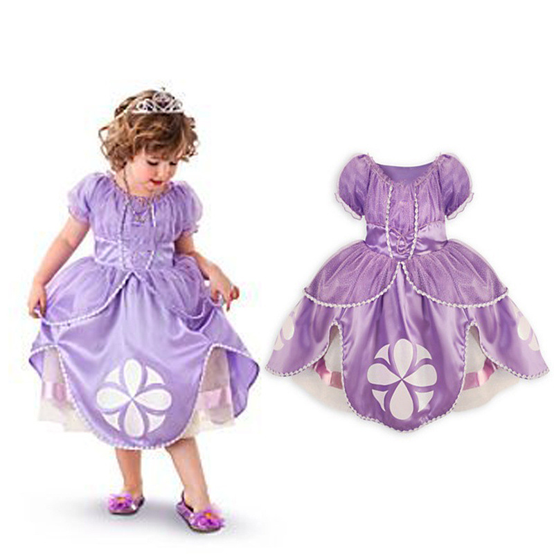 Fashion children clothes 2 years kids party dresses for girls princesse sofia robe<br><br>Aliexpress