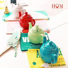 Candy colors Tea pot with filter original imported ceramic candy color home High-end British afternoon tea Kung Fu tea pot set