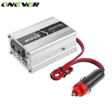 Onever Universal 200W Car Converter DC 12v to AC 220v Car Auto Inverter with USB Port Power Adapter Inverters Car USB Charger(China)