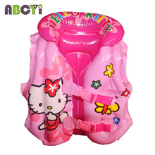 2-5 years Child Thicken Inflatable Swim Vest Kid Swim Trainer Drifting Fishing Life Jacket Baby Boy Girls Swimming Floating Vest(China)