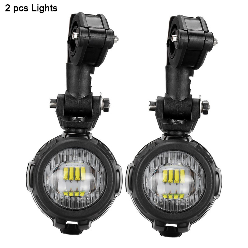 1 111 set 40W Motorcycle LED Auxiliary Fog Light Spot Driving Lamps For MW R1200GSADVF800GSF700GSF650FS (1)