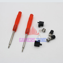 1set=10Pcs  For Nintendo 3DS XL LL Little hinge parts Lock & Led diffuser+Axle w/ Screwdriver