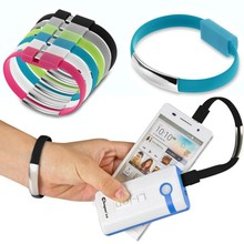 High Quality Micro USB Cable Bracelet Wristband Charger Charging Data Sync Cord For Cell Phone