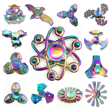 Buy Rainbow Hand Fidget Spinner Finger EDC Hand Spinner Kids Autism ADHD Anxiety Stress Relief Focus Handspinner Toys for $3.88 in AliExpress store