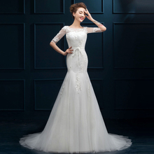 Buy MZ-MSRHS Summer Sexy Lace Appliques Tulle Beach Wedding Dress 2017 Boho Cheap Robe De Mariage Bridal Gown Casamento for $112.48 in AliExpress store