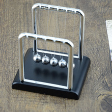 Hot Sale!!Early Fun Development Educational Desk Toy Gift Newtons Cradle Steel Balance Ball Physics Science Pendulum 2 Colors