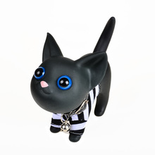 BOHS Big Eyes Black Sweet Home Piggy Money Coin Bank Spare Change Storage Box(China)
