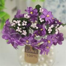 6pcs/lot 1.5cm  New Arrival Mini Cherry Artificial Silk Baby Breath Flowers Bouquet ,Table Arrangements Stamen Cheap flower
