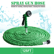 Hot Selling 100FT Expandable Magic Flexible Garden Water Hose For Car Hose Pipe Plastic Hoses To Watering With Spray Gun Green