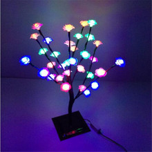 47 cm Height 32 LEDs Changeable Rose led cherry blossom Tree Light in   christmas lights tree Holiday wedding decoration
