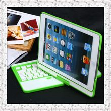 Green Luxury Bluetooth ABS Keyboard &  360 ROTATING ABS Shell Case Cover W/Stand for Apple iPad Mini/iPad min 2 Free Shipping