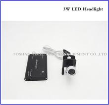 Hot Sale LED Head Light Lamp in Black Color for Dental Surgical Medical Binocular Loupe + Adaptor + Battery