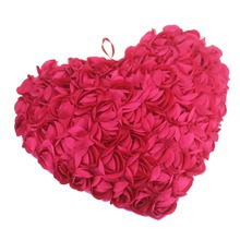 Chair Cushion Toy Hold Couch Pillows stuffed animal plush toys dark pink Roses Throw Pillows Hold chair Fashion Heart Shape(China)