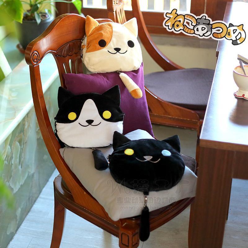 Girls Anime Neko Atsume Cute Cats Shoulder Bag Backpack Plush 3 Colors<br><br>Aliexpress