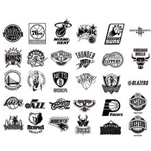 Buy 1 get 1 free- all 30 team logos to choose Car Vinyl Decal Stickers NBA American professional basketball team logo sticker