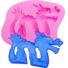 M691 HOT NEW Dragon Shaped DIY Silicone 3D Cake Mold Fondant Decoration Mold Cake Cooking Tools