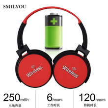 SMILYOU Wireless Headphones Bluetooth Headset V4.2 Earphone FM Headphone Earbuds Earphones With Microphone For PC phone music