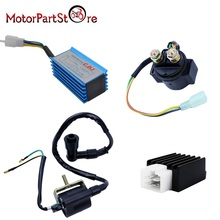 Racing CDI  Ignition Coil Regulator Rectifier Solenoid Relay for 50cc 70cc 90cc 110cc 125cc ATV Quad Motorcycle Accessories *