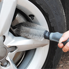 VODOOL Car Accessories Wheel Brush Gray Car Styling Wash Soft Rubber Grip Brush Car Cleaning Supplies Car Wash Brush(China)