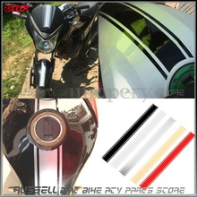 Motorcycle Tank Fairing Cowl Vinyl Stripe Pinstripe Decal Sticker For Cafe Racer 50cm(China)