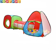 3-Piece children's Play Tent Baby Crawling Tunnel kids Toy Tents for Children house Floding Square Game Triangle Ball Pit Pool(China)