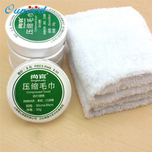 1pc Compressed Towel Magic Outdoor Travel Wipe Soft Cotton Expandable Just Add Water u70801(China)