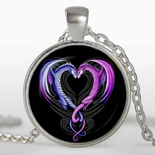 (3 pieces/lot) Dragons heart pendant, Dragons heart Necklace, Jewelry, Silver Plated pendant, pink, purple(China)