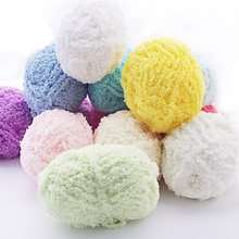 Pomotion 2 Pieces 100g/lot Thick Yarn for Knitting coral fleece Cotton Yarn crochet For Children(China)
